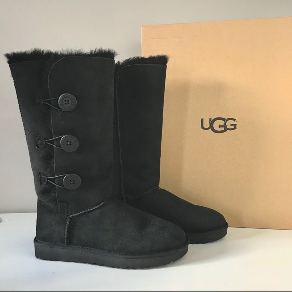 baf93e8bbee UGG NEW Bailey Button triplet II tall black boot 9 NWT